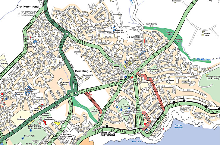 Street Maps Directoryim - Isle of man map